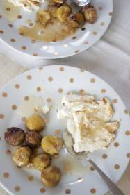 TOASTED RICOTTA CHEESE, HONEY AND BUTTERED CHESTNUTS
