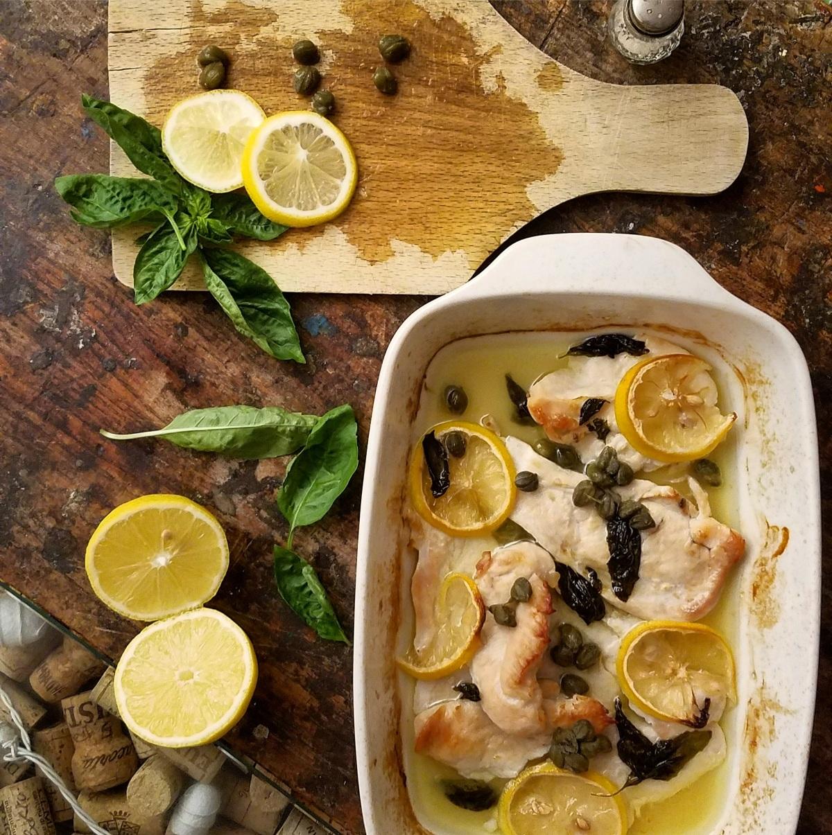 Italian Lemon Basil Chicken